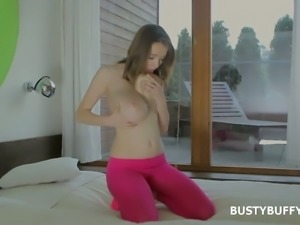Busty Buffy is quite aware that the secret to be happy is to masturbate