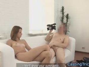 Flexible casting eurobabe gets fucked hard