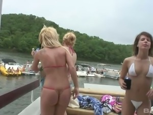 Miranda and her friends love to party and they love showing off their nipples