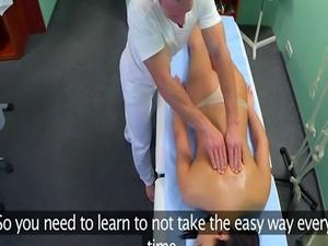 Hospital patient cocksucking her doctor