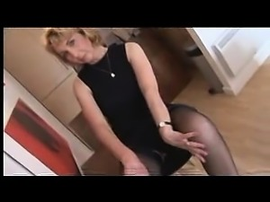 Mature Blonde Asks Stockings or Pantyhose