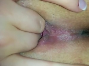 close up girlfriend squirting