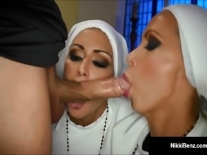 Penthouse Pet Nikki Benz & Jessica Jaymes Banged As Nuns!
