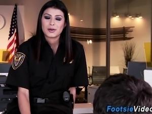 Police sluts feet jizzy