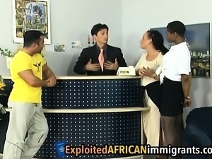 African sluts get banged by two white schlongs
