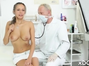 Hot patient is being fucked like a crazy whore that chick is