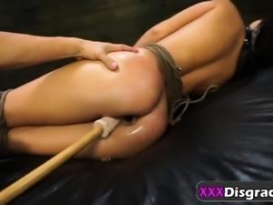 Rough anal in bondage for Latina hottie Esmi Lee