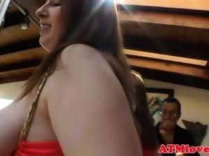 Roundass beauties playing with their bigtits