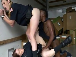 Milf in sexy skirt gets crazy Milf cops humid and smashing on stolen