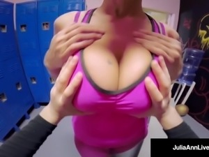 Big Busty Milf Julia Ann Gets Fucked In Gym By A Young Stud!