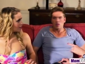 Hardcore threesome with MILF and Teen