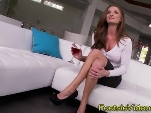 Busty babes toes creamed