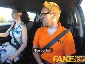 Fake Driving School pink nipples big tits redhead