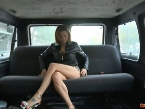 Busty chick finally experiences having sex inside the car
