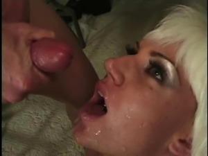 Tattooed blonde anal blasted hardcore till getting facial cumshot
