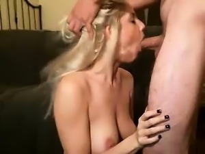 Italian amateur wife pov blowjob with a cumshot in her mouth