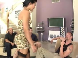 Bukkakke for a huge slut Max Mikita after a wild blowbang
