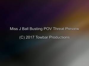 Miss J Ball Busting Threat