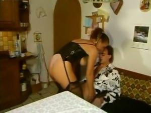 Busty German redhead milf housewife getting boned in the ass