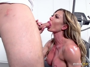 Oiled up nasty MILF craves to feel a cock up her anus