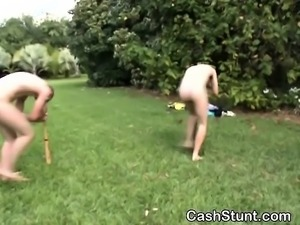Amateur Spin Around And Rush To Fuck Stunt Outdoors