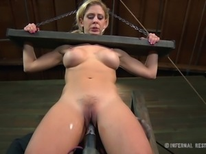 Cherie Deville is a part of a kinky BDSM experience
