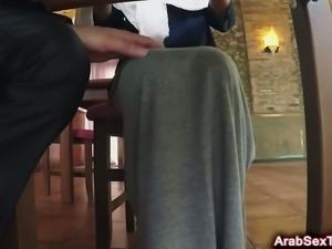 Sexy Arab girl banged on table