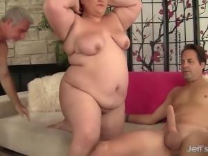 Double penetration for fatty Bella Bendz