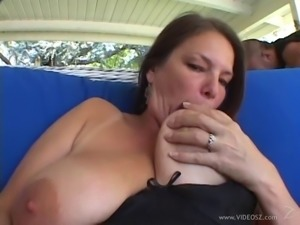 Brilliant cowgirl in stocking enjoying her hairy pussy being banged in close...