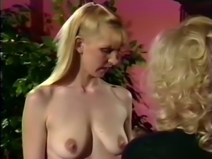 Blonde milf classic white sweethearts tease and grope each other