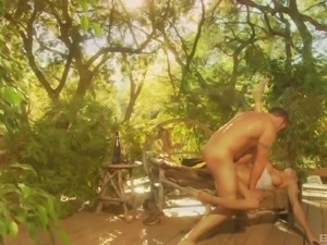 Lezley Zen wants to ride a hunk's dick during a romantic shag