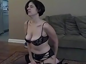 wife plays with new toy then swallows cum