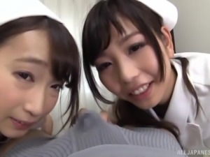Japanese nurses want to make a fellow's dick stiff