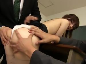 Kanako Ioka knows how to seduce randy fellows for a hot fuck