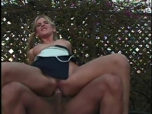 Pigtails blonde in miniskirt punished hardcore doggystyle