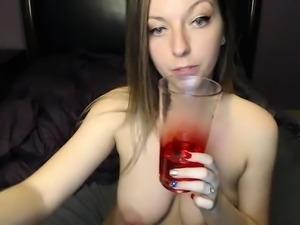 Brunette seductress working her big boobs and hot ass