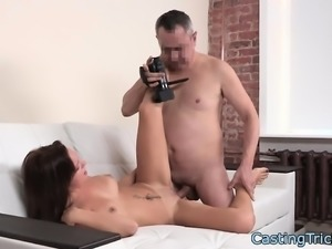 Bigtits casting newbie gets fucked on camera