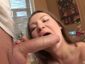 Fleshy piece of man-meat for a salacious European babe