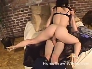 Dick craving brunette chick wants to ride a horny man's dick