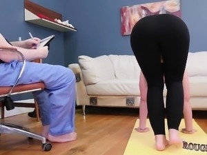 Tall women domination first time Ass-Slave Yoga