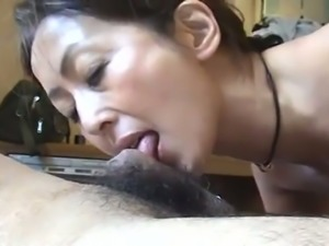 This slut is a cock slut of the highest order and she loves giving oral sex