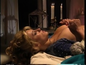 Hot ass blonde in high heels ravished hardcore yelling in mmf porn