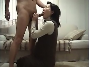 Horny mature Asian mom licks my ass hole thoroughly