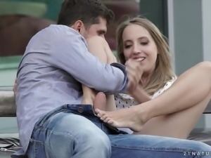 Anya Akulova seduced by a hunk for an amazing plowing game