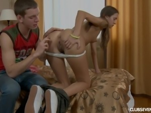 Fucking the cute face of his lustful beauty Olivia I mercilessly