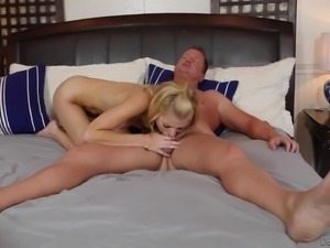 Arya Fae is a nasty blonde who cannot wait to be penetrated hard