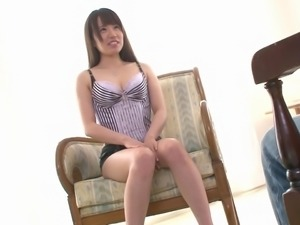 Main in uniform moaning while her pussy is licked for the first time