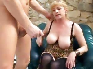 Busty Granny Fucks Young Cock