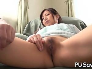 Virile man pleasures lustful oriental