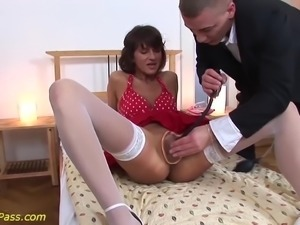 My crazy teacher needs extreme pussy pumping and deep anal fucking